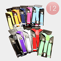 Elastic Suspenders Multi Colors