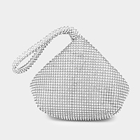 Rhinestone stone clutch bag