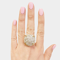 Pave Rhinestone Dome Stretch Ring