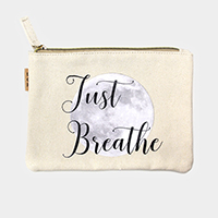 Just Breathe _Cotton Canvas Eco Pouch Bag