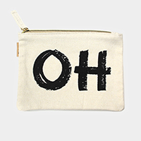 Oh _Cotton Canvas Eco Pouch Bag
