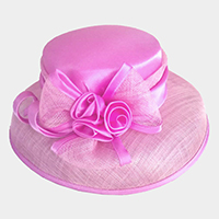 Flower Bow Sinamay Hat