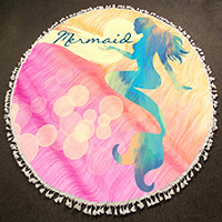 Mermaid_Multi-Way Round Beach Throw