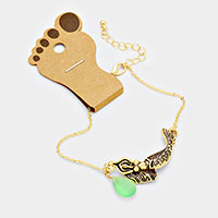 Mermaid Anklet with Tear Drop Sea Glass Stone