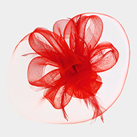 Floral Net Hair Clip Fascinator