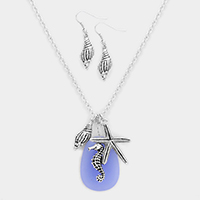 Starfish, Seahorse and Shell Pendant Necklace