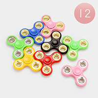 12 pcs - Regular 2 Flip Spinner Widget Spinner Fidget Toys