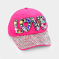 Love _ Bling denim baseball cap