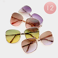 12 Pairs - Oversized Sunglasses