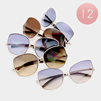12 PCS - Oversized Sunglasses