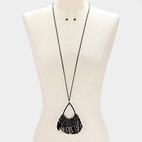 Fringe Thread Tassel Long Necklace