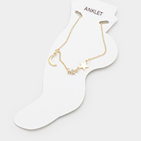 Moon & Stars Charms Anklet