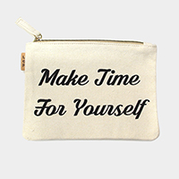 Make Time For Yourself_Cotton Canvas Eco Pouch Bag