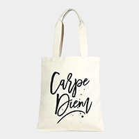 Carpe Diem _ Cotton Canvas Eco Shopper Bag