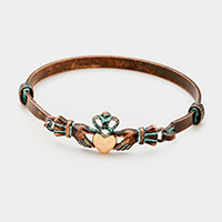Metal Claddagh Hook bracelet