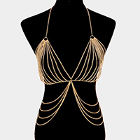 Draped Bra Body Chain Necklace