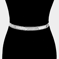 Metal & Cup Chain with Rhinestone Belt