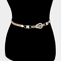 Popcorn Chain & Cup Chain with Rhinestone Belt