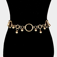 Linked Round Shape Drop Ball Chain Belt