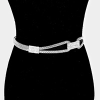 Popcorn Chain with Rhinestone Belt