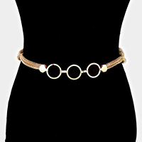 Linked Round Shape Casting & Twisted Popcorn Chain Belt