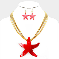 Celluloid Statement Starfish Necklace