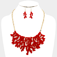 Celluloid Reef Statement Necklace