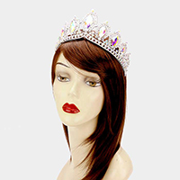 Glass Crystal Pageant Queen Tiara