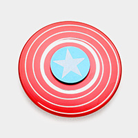 Captain America Shield Zinc Alloy Spinner Fidget Toys