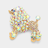 Pave Dog Brooch
