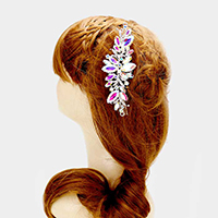 Glass Crystal Leaf Vine Hair Comb