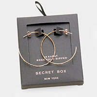 Secret Box_Rose Gold Dipped Hoop Earrings