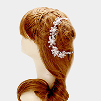 Clear Flower Bun Wrap Headpiece