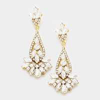Crystal Rhinestone Chandelier Evening Earrings