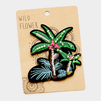 Embroidered Palm Tree Patch