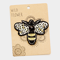 Embroidered Honeybee Patch