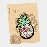 Embroidered Pineapple Patch Set