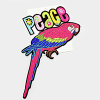 Peace _ Embroidered Parrot Patch