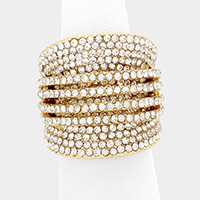 Pave Rhinestone Stretch Ring
