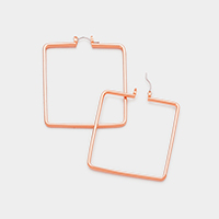 Square Metal Pin Catch Earrings