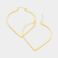 Heart Shape Metal Pin Catch Earrings