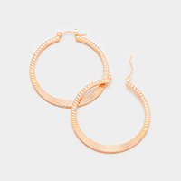Round Textured Pin Catch Earrings