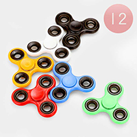 12 PCS - 3 WAY Alloy Basic Spinner Fidget Toys