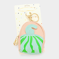 Faux Leather Watermelon Backpack Keychain