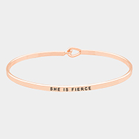 She is Fierce _ Thin Metal Hook Bracelet