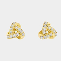 CZ Love Knot Earrings