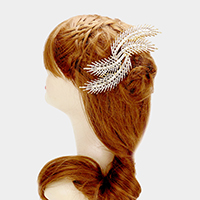 Glass Crystal Feather Hair Comb