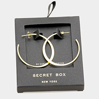 Secret Box _  Gold Dipped Hoop Earrings