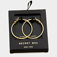 Secret Box _ Textured Gold Dipped Hoop Earrings