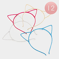 12 PCS - Bling Cat Ear Headbands